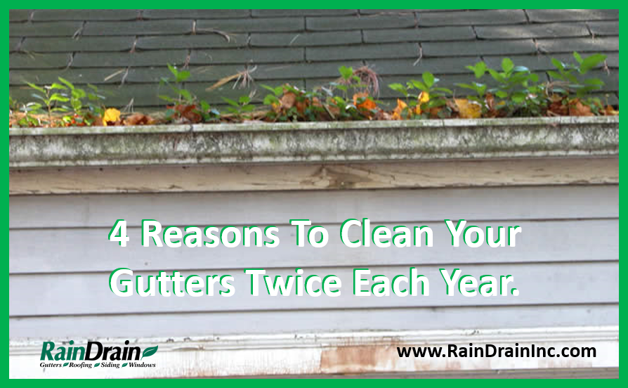 Detecting Clogged Gutters is Easy - Call RainDrain in Goshen - Kalamazoo - Fort Wayne to Help Clean Your Gutters Forever